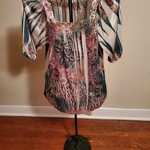 Dressbarn Patterned Shirt